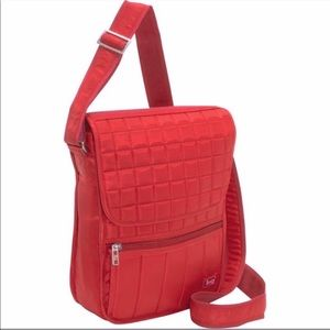 Lug Red Quilted Moped Crossbody Bag